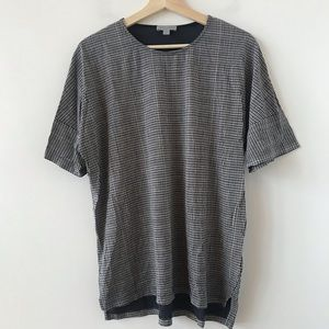 COS oversized check pattern t shirt